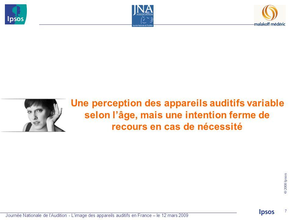 Une perception des appareils auditifs variable selon l'âge, mais une intention ferme de recours en cas de nécessité