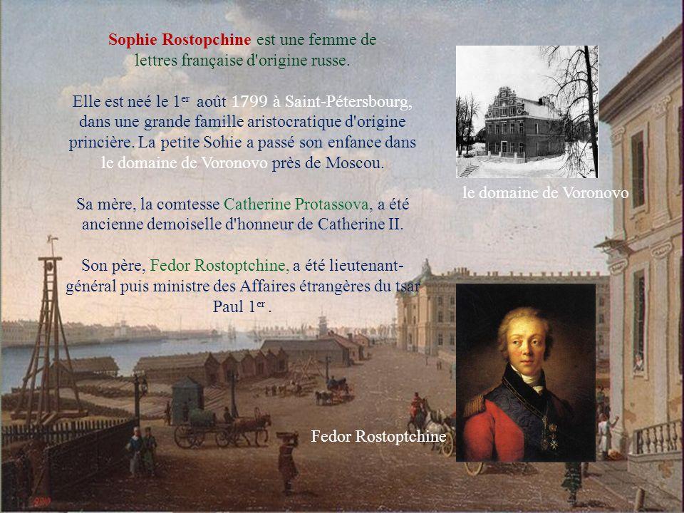 Sophie Rostopchine est une femme de lettres française d origine russe