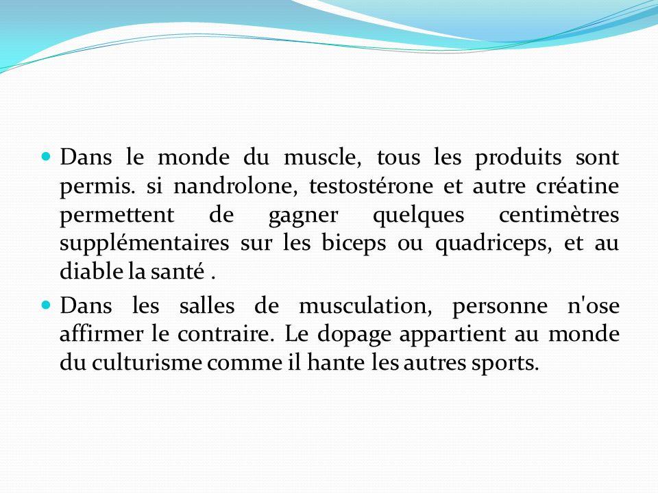 Dans le monde du muscle, tous les produits sont permis