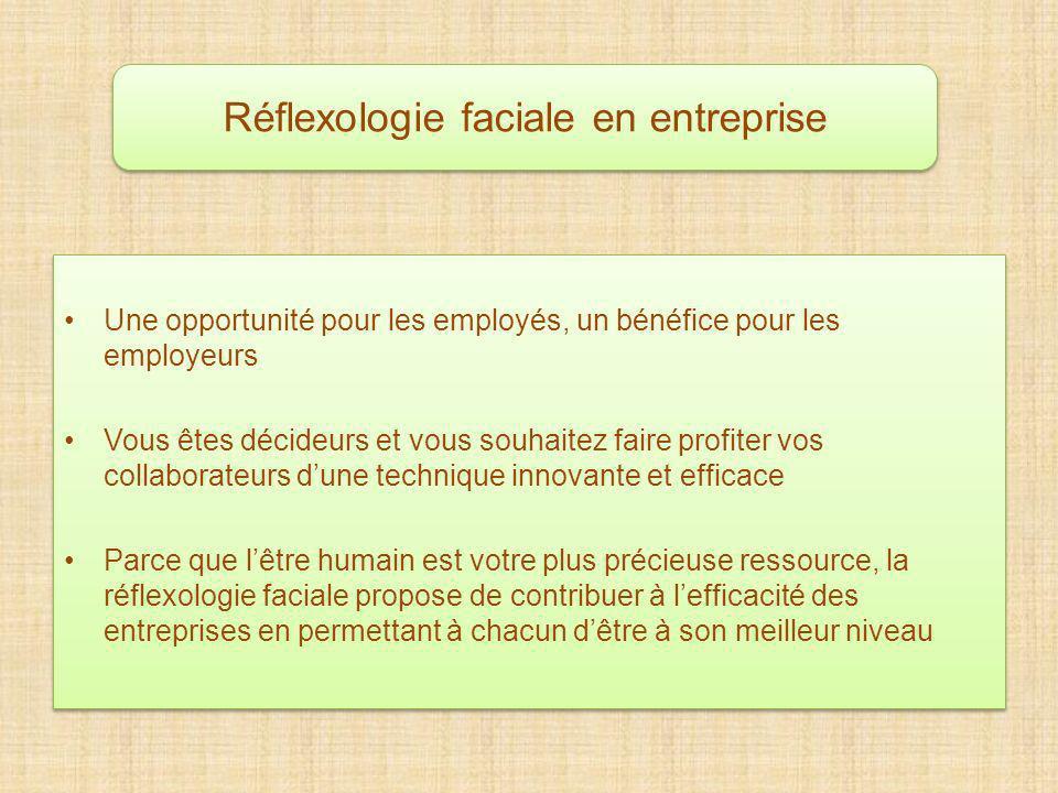 Réflexologie faciale en entreprise