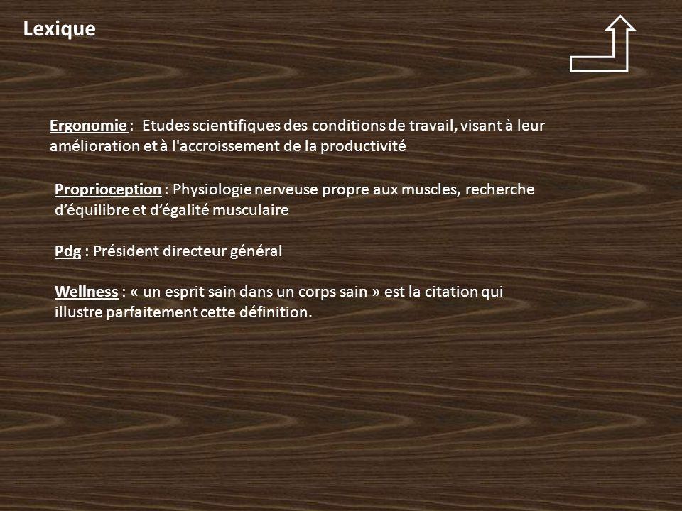 Lexique Ergonomie : Etudes scientifiques des conditions de travail, visant à leur amélioration et à l accroissement de la productivité.