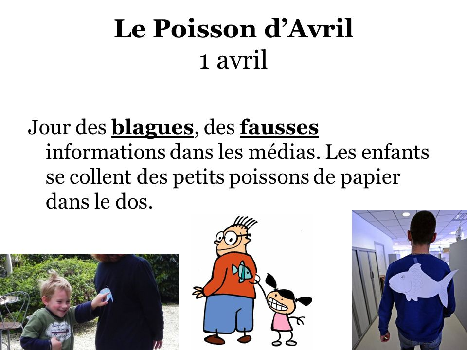 Le Poisson d'Avril 1 avril