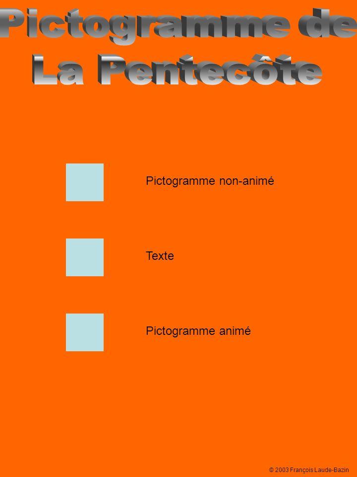 Pictogramme de La Pentecôte Pictogramme non-animé Texte