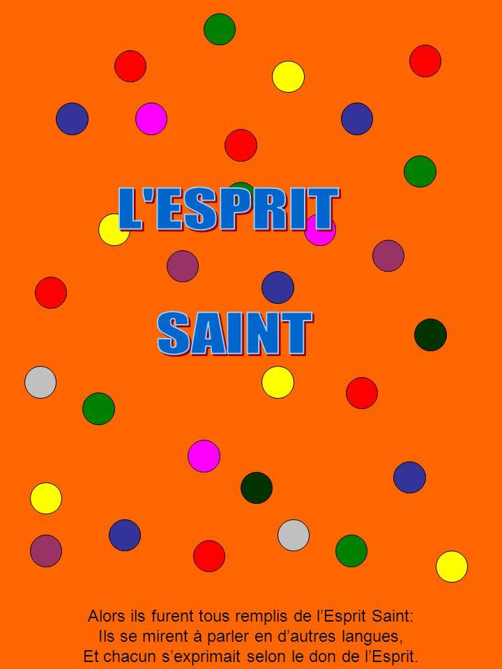 L ESPRIT SAINT Alors ils furent tous remplis de l'Esprit Saint: