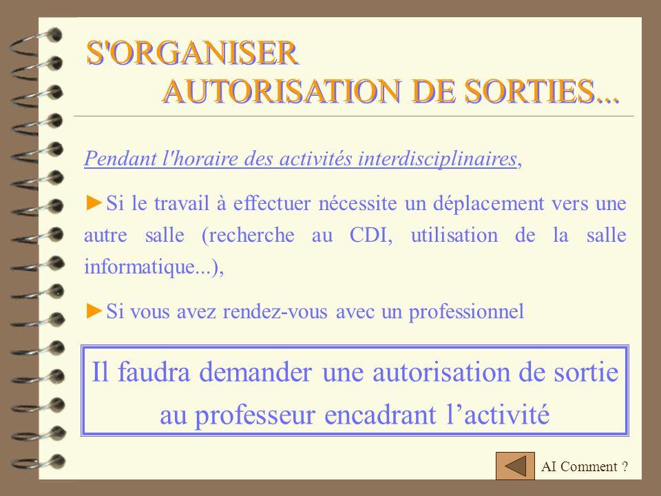 AUTORISATION DE SORTIES...