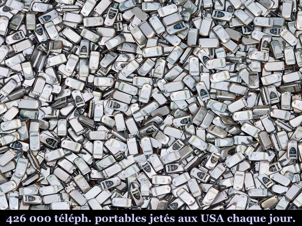 426 000 téléph. portables jetés aux USA chaque jour.