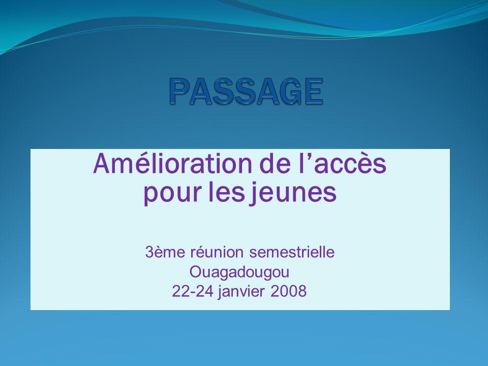 AMELIORATION DE L ACCES DES JEUNES AUX SOINS