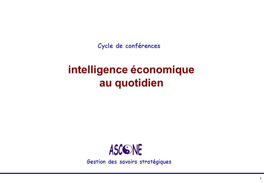 intelligence économique au quotidien