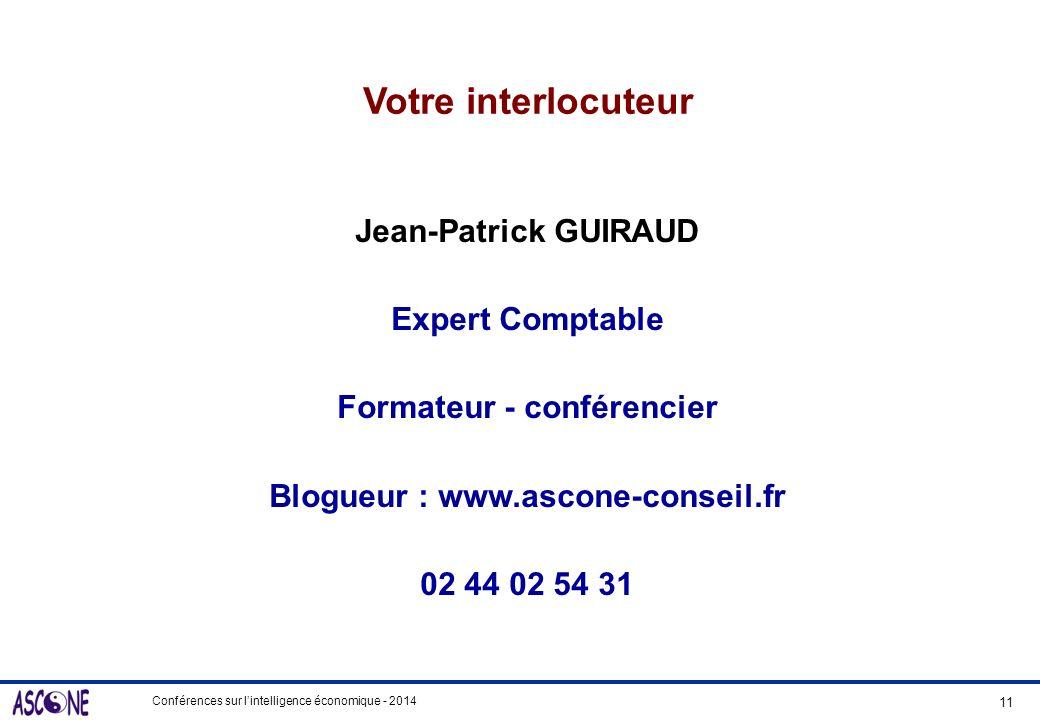 Formateur - conférencier Blogueur : www.ascone-conseil.fr