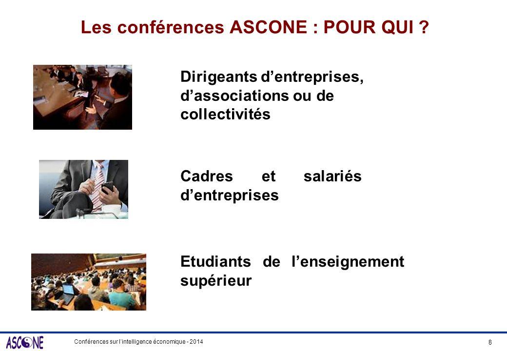 Les conférences ASCONE : POUR QUI