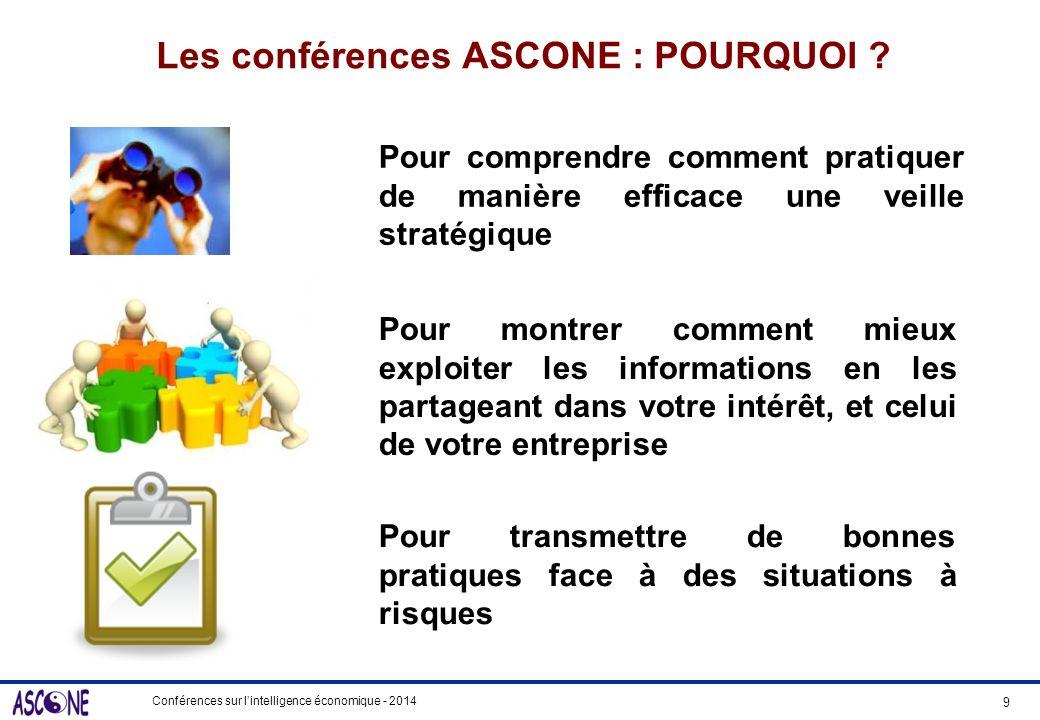 Les conférences ASCONE : POURQUOI