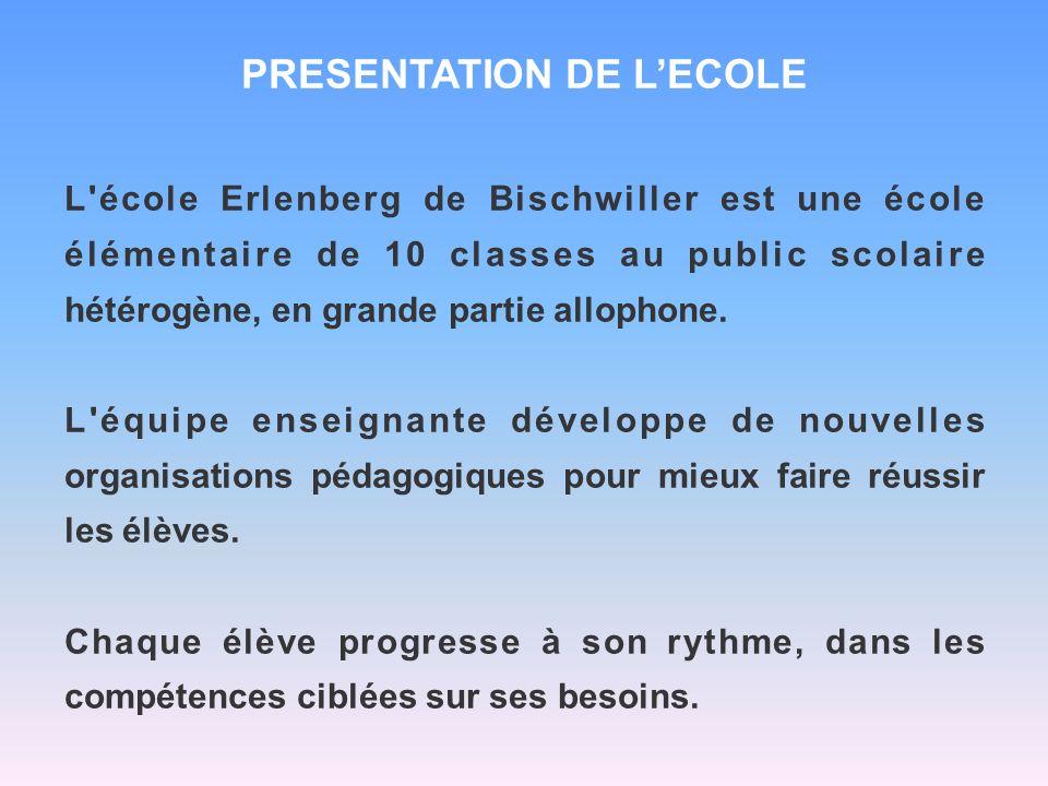 PRESENTATION DE L'ECOLE