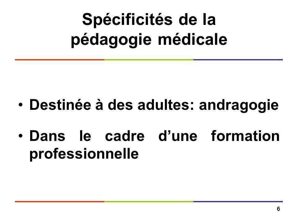 Spécificités de la pédagogie médicale