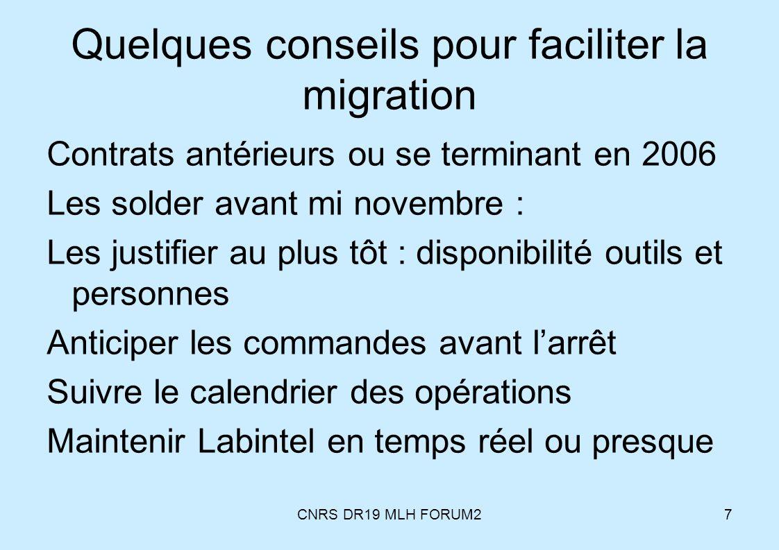 Quelques conseils pour faciliter la migration