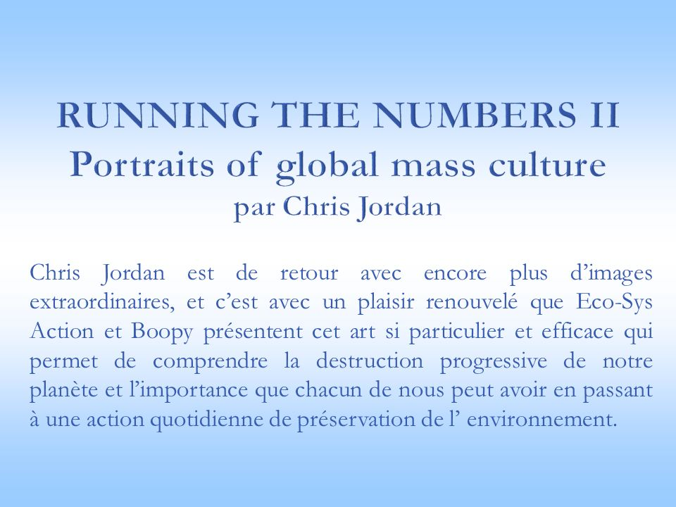 Running the numbers II Portraits of global mass culture par Chris Jordan