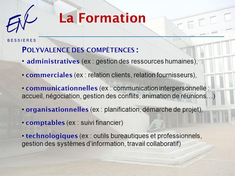 La Formation Polyvalence des compétences :