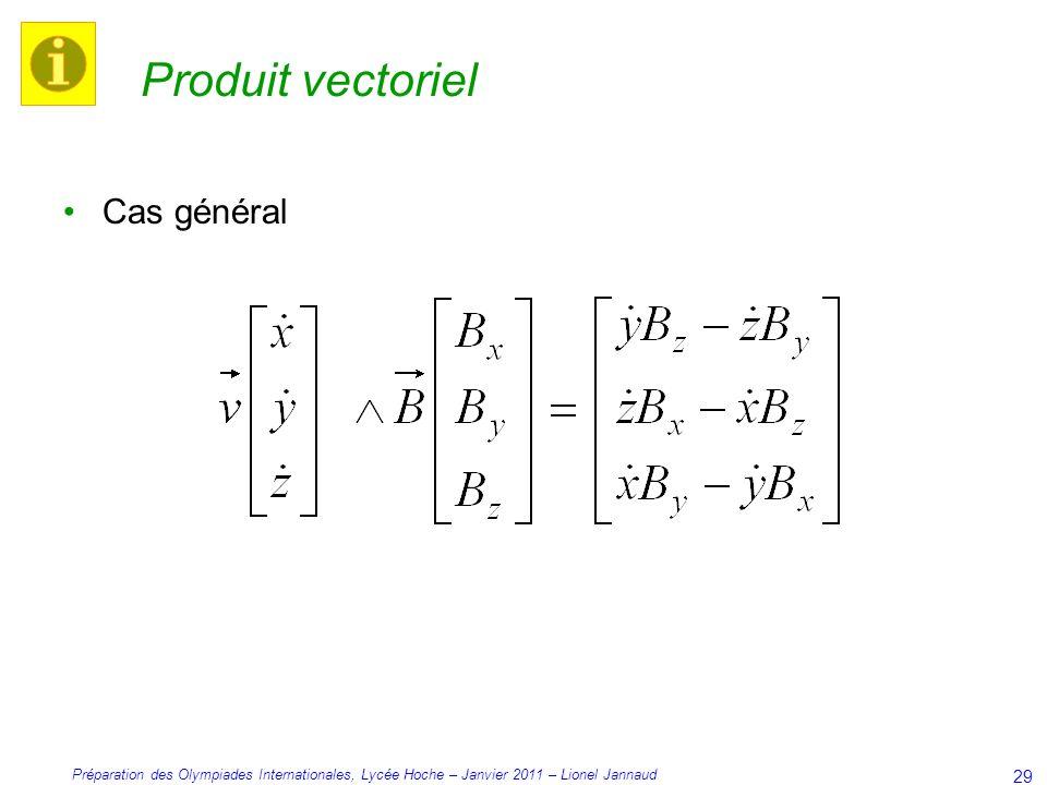 Produit vectoriel Cas général
