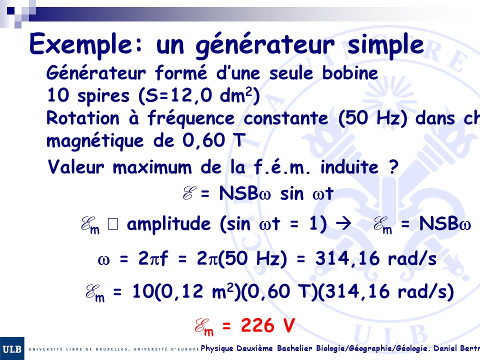 Exemple: un générateur simple