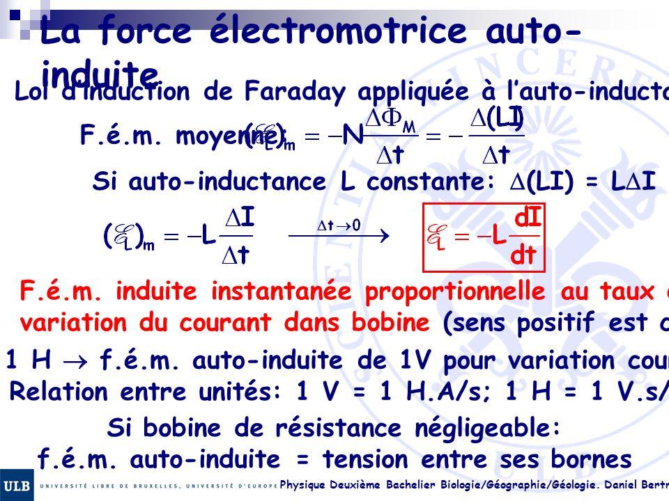 La force électromotrice auto-induite