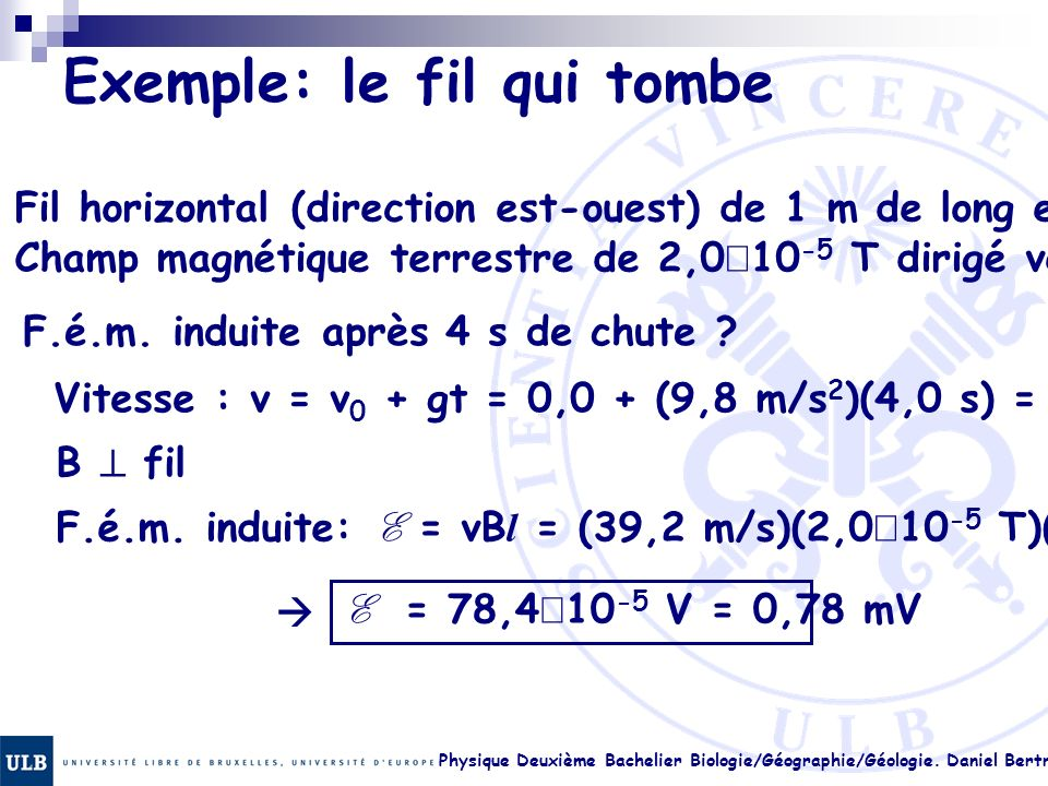 Exemple: le fil qui tombe