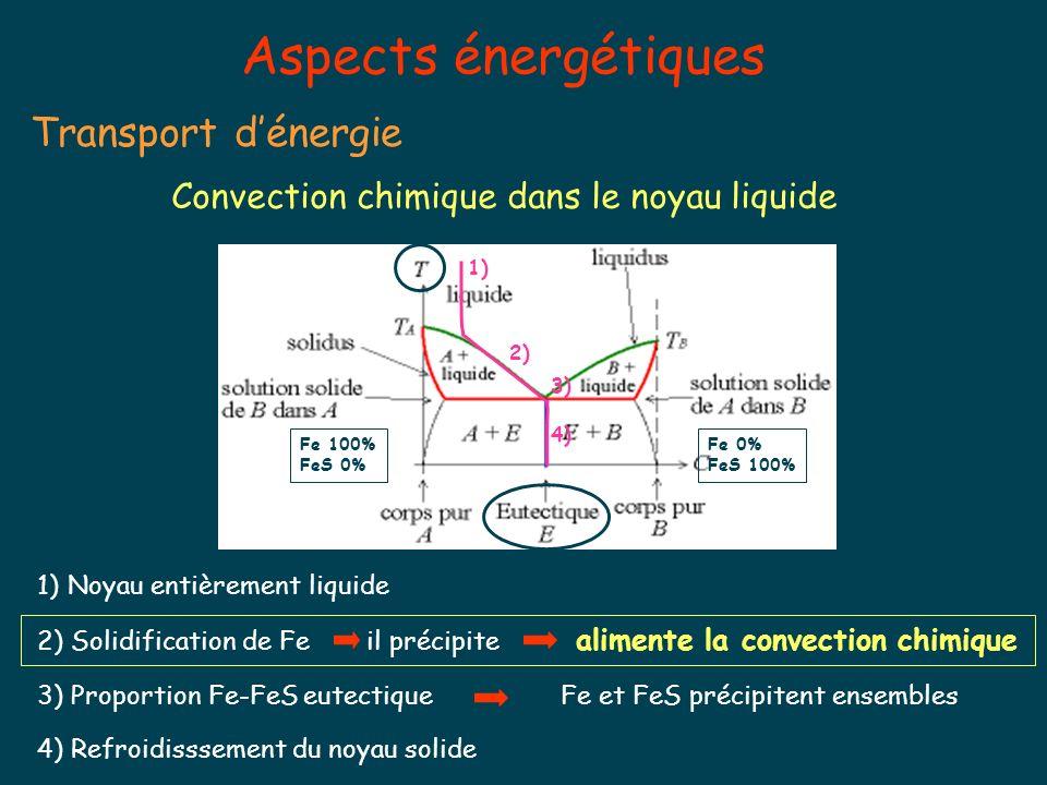 Convection chimique dans le noyau liquide