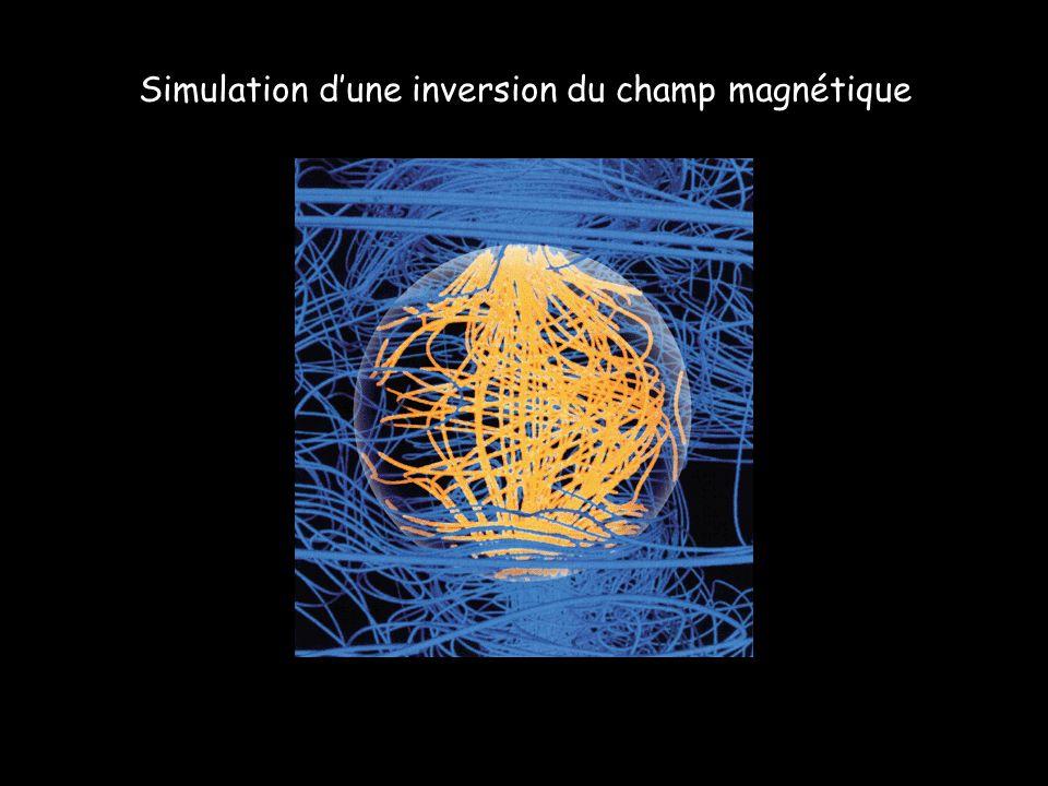 Simulation d'une inversion du champ magnétique