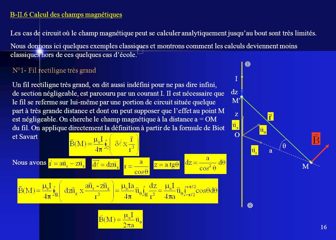B-II.6 Calcul des champs magnétiques