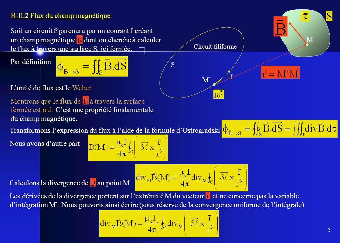 B-II.2 Flux du champ magnétique