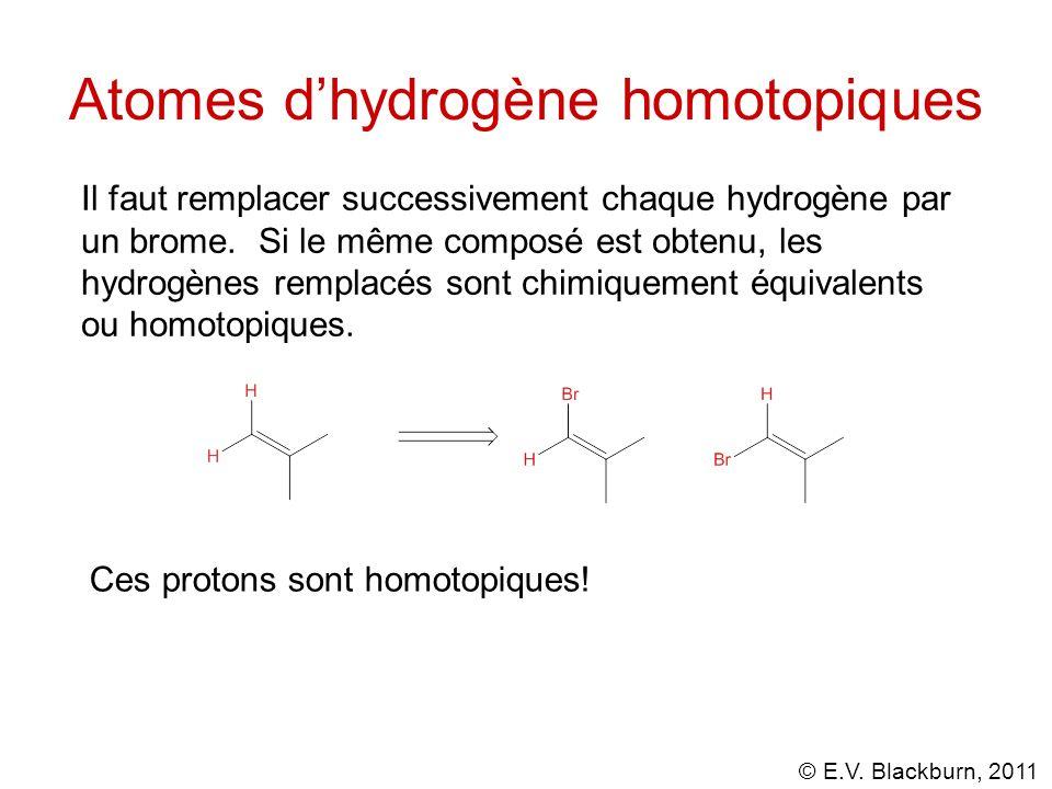 Atomes d'hydrogène homotopiques