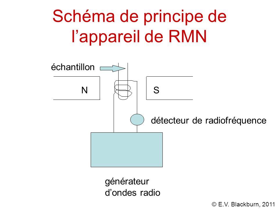 Schéma de principe de l'appareil de RMN