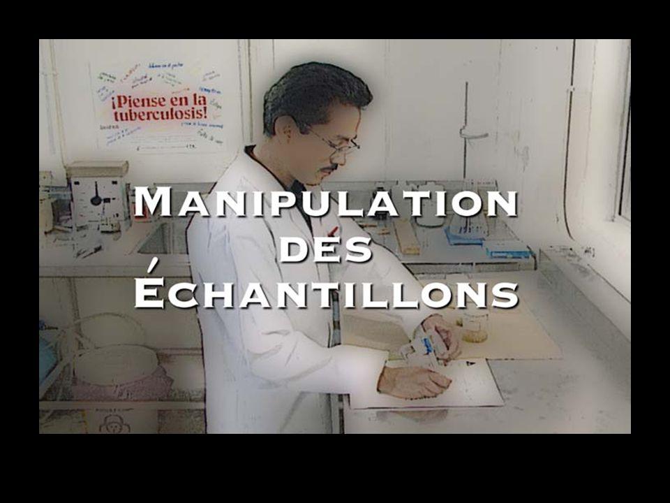 Manipulation des échantillons