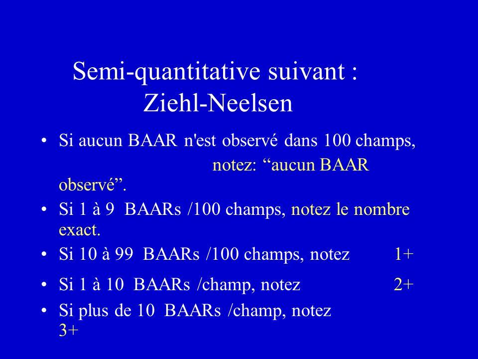 Semi-quantitative suivant : Ziehl-Neelsen
