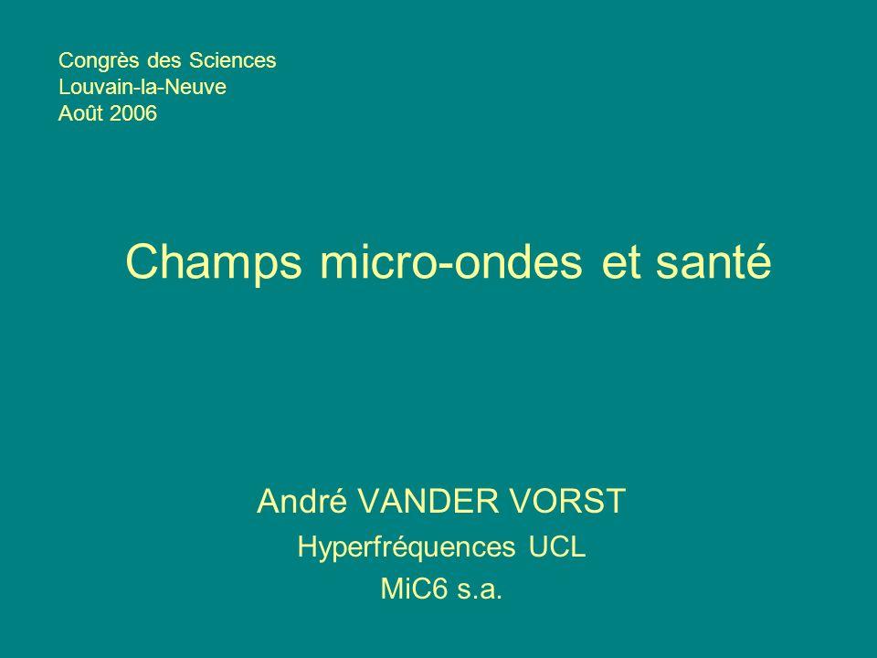 Champs micro-ondes et santé