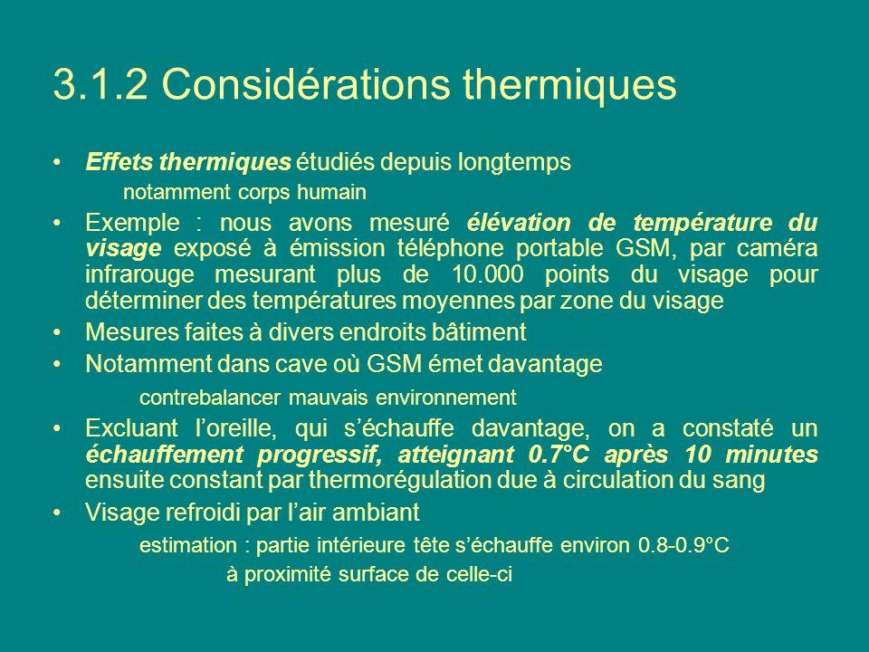3.1.2 Considérations thermiques