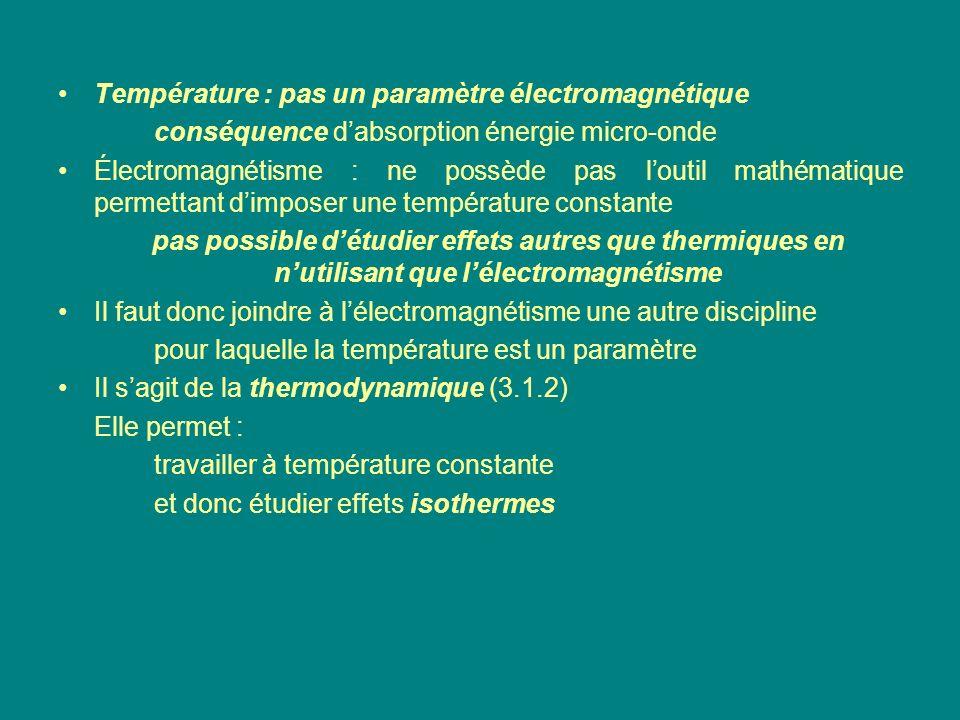 Température : pas un paramètre électromagnétique