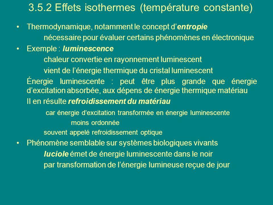 3.5.2 Effets isothermes (température constante)
