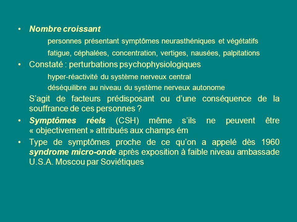 personnes présentant symptômes neurasthéniques et végétatifs