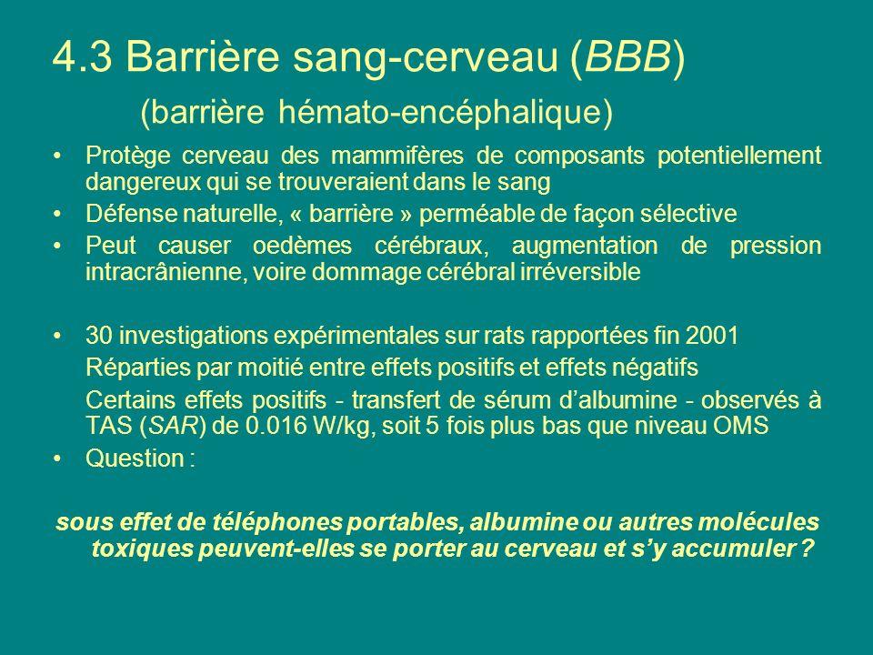 4.3 Barrière sang-cerveau (BBB) (barrière hémato-encéphalique)