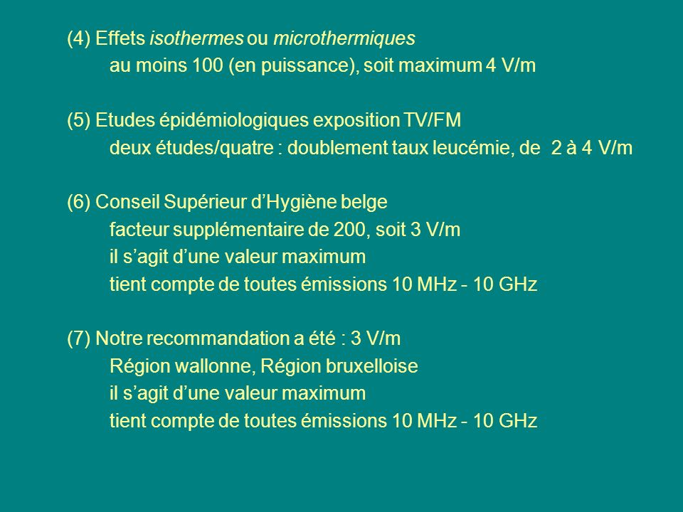(4) Effets isothermes ou microthermiques