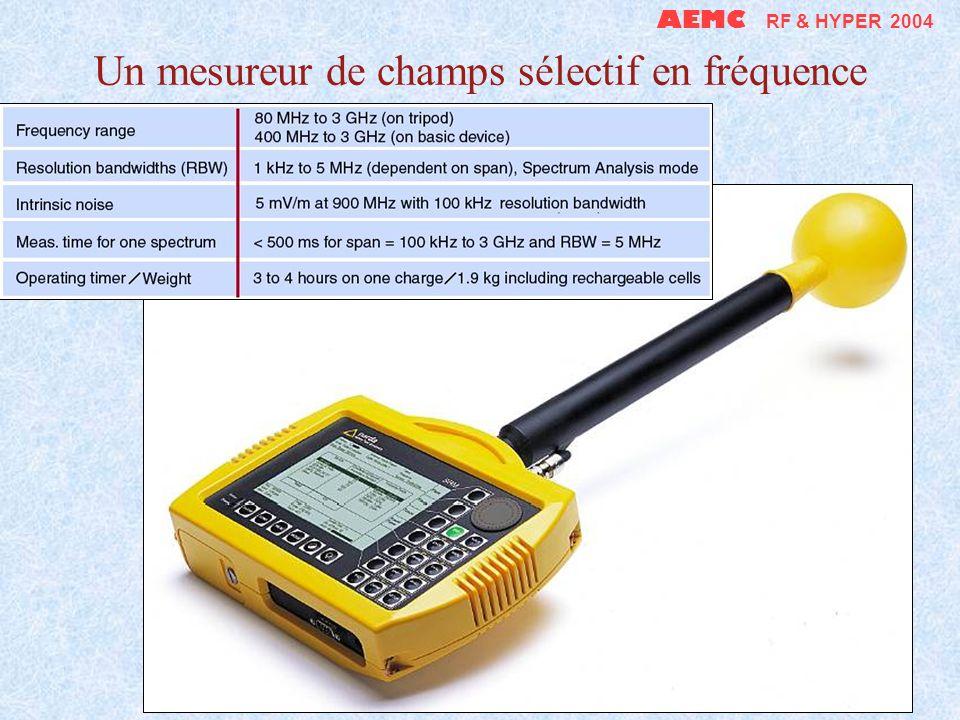 Un mesureur de champs sélectif en fréquence