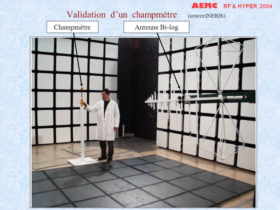 Validation d'un champmètre (source INERIS)