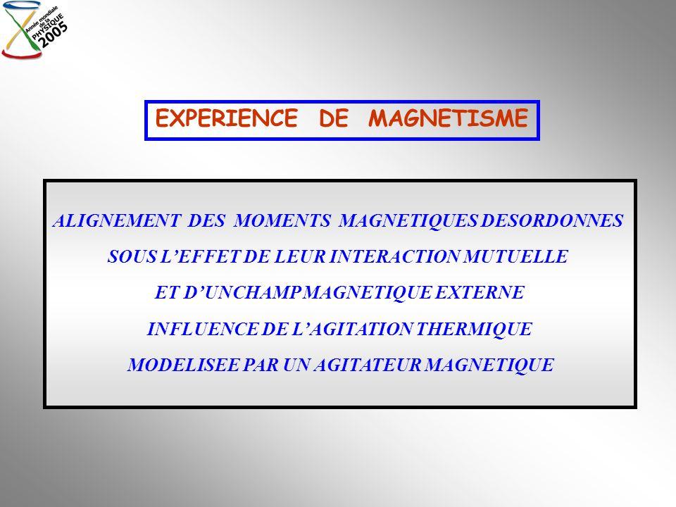 EXPERIENCE DE MAGNETISME