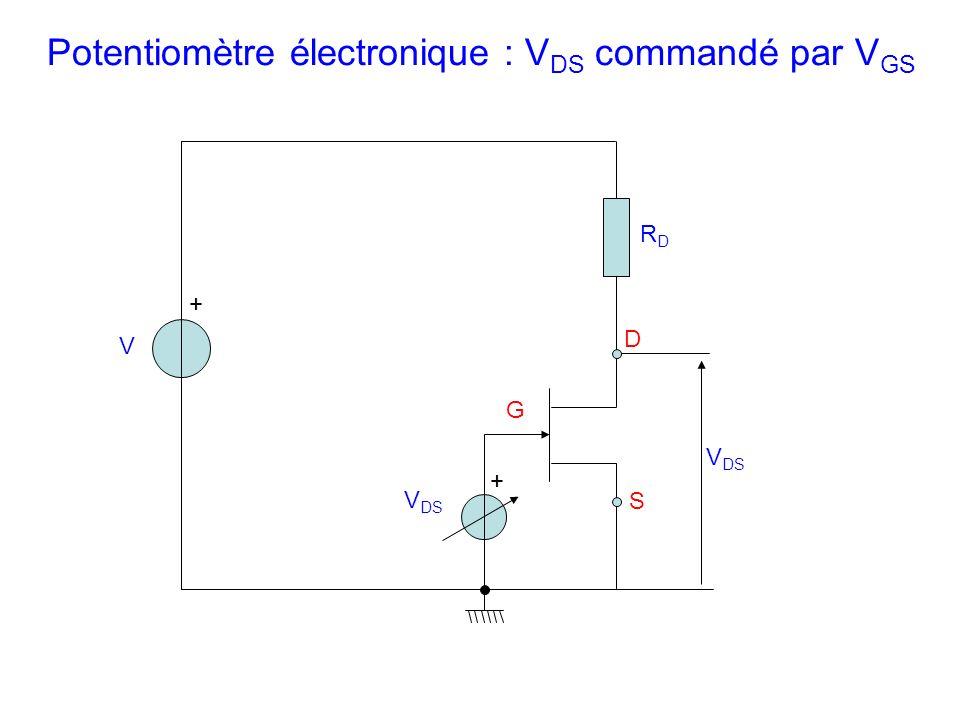 Potentiomètre électronique : VDS commandé par VGS