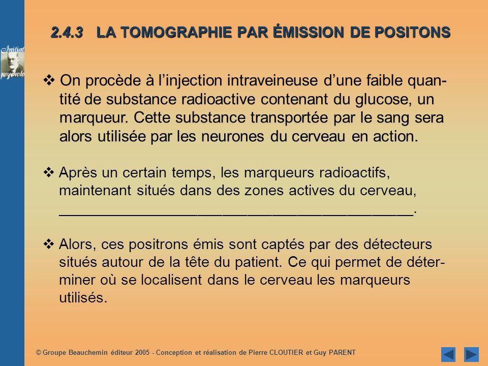 2.4.3 LA TOMOGRAPHIE PAR ÉMISSION DE POSITONS