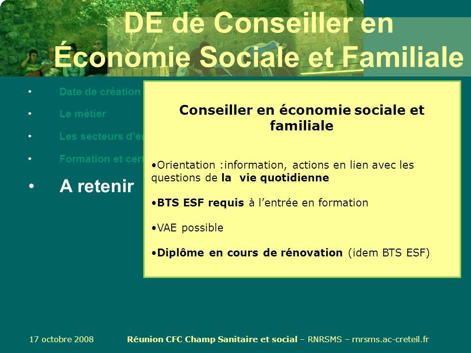 certifications du secteur sanitaire et social de cesf