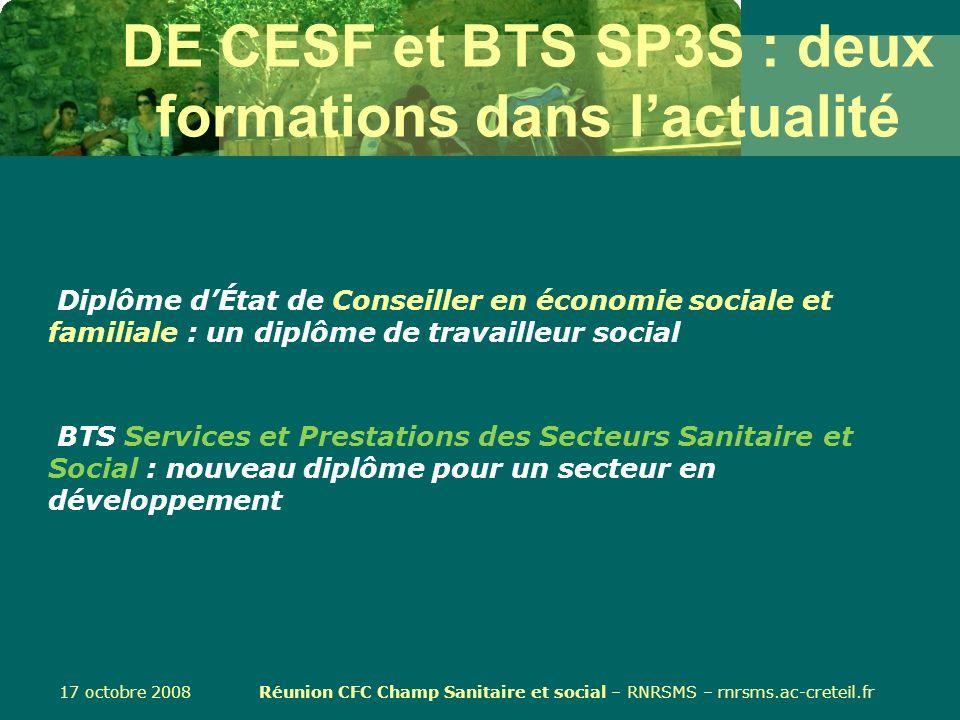 DE CESF et BTS SP3S : deux formations dans l'actualité