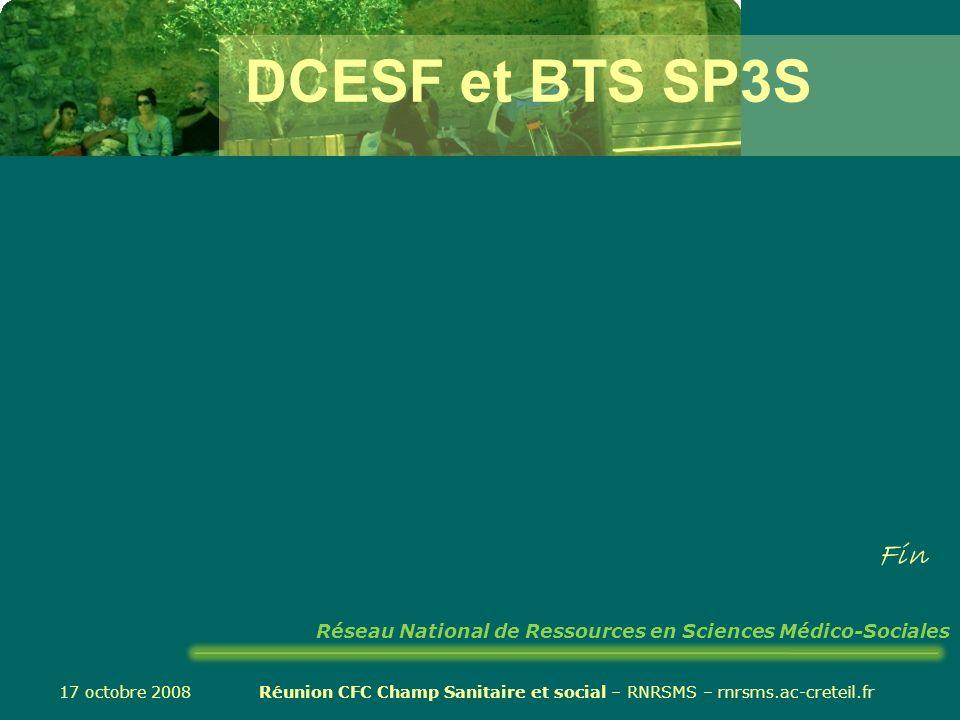 Réunion CFC Champ Sanitaire et social – RNRSMS – rnrsms.ac-creteil.fr