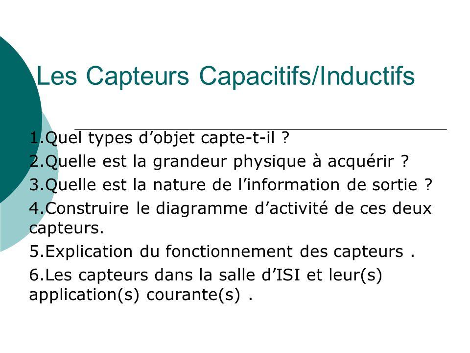 Les Capteurs Capacitifs/Inductifs