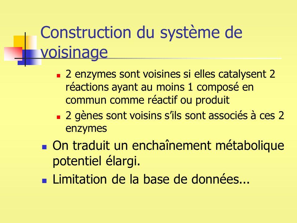 Construction du système de voisinage