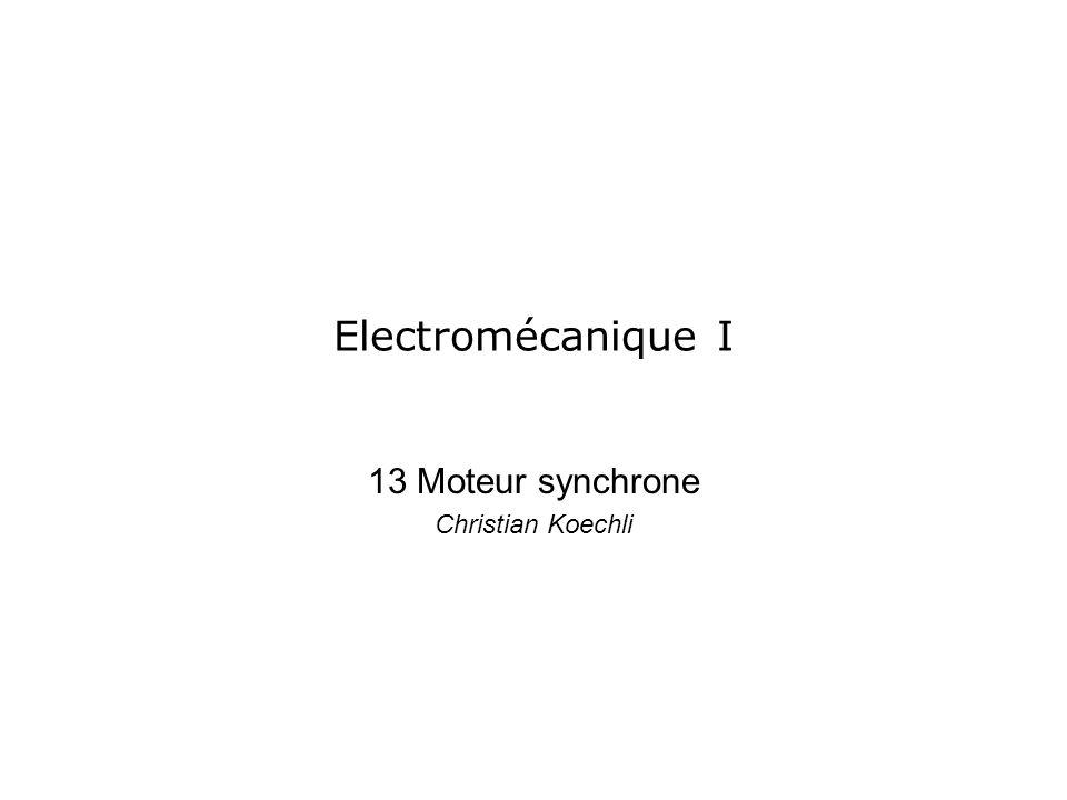 13 Moteur synchrone Christian Koechli